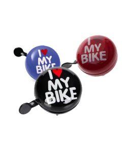 Sonnette I Love My Bike 60 mm Assortie