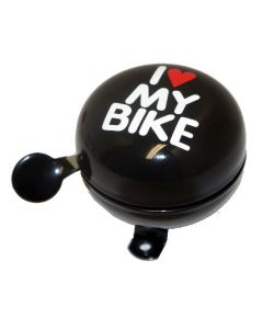 Sonnette I Love My Bike 60 mm Noire